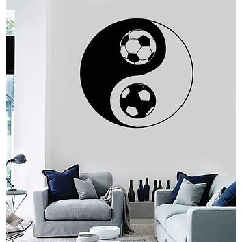 Wall Stickers Vinyl Decal Yin Yang Symbol  Oriental Soccer Football (z1998)