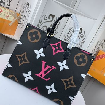 Kuyou Gb229916 Lv Louis Vuitton Monogram Leather Nthego Onthego Book Tote Bag 41.0 X 34.0 X 19.0 Cm