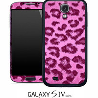 Hot Pink Leopard/Cheetah Print Skin for the Samsung Galaxy S4, S3, S2, Galaxy Note 1 or 2