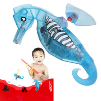 Swimming Robot Fish Activated Battery Powered Robot Hippocampus Toy Childen Kids Animals Cartoon Robotic Pet Gift
