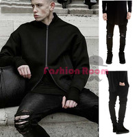 summer style Mens Destroyed Denim Jeans slim hole black strech ripped jeans for men casual skinny fashion pants designer jean