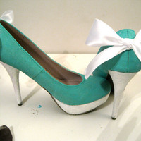 Tiffany's Blue Box Shoes by CustomGlitter on Etsy