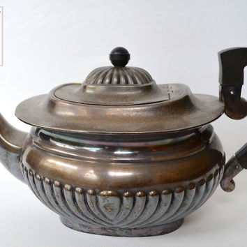 Antique English Sheffield Teapot Tea Pot Silver Silverplate Edwardian Style England