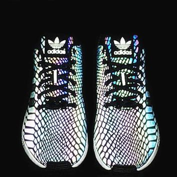 Fashion Adidas Chameleon Reflective Sneakers Rainbow Color Sport Shoes