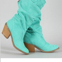 Mint CowGirl Boots