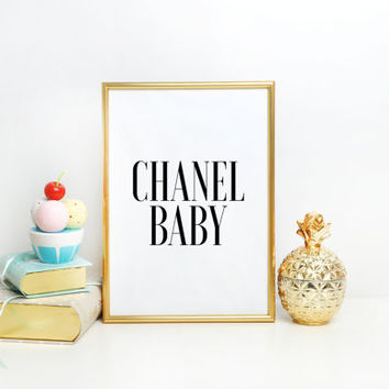 Chanel Coco centerpiece, table decor Party decor Black/White/Blush pink/Gold glitter party decor BABY SHOWER Party sign Digital Printable