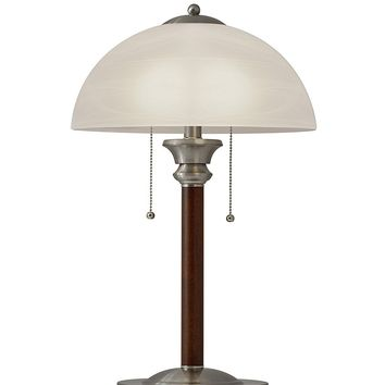 "Adesso 4050-15 Lexington 22.5"" Table Lamp – Lighting Fixture with Walnut Wood Body, Smart Switch Compatible Lamp. Home Improvement Equipment"