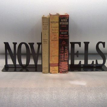 Novels Text Bookends FREE USA Shipping by KnobCreekMetalArts
