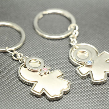 Free Engraving,couples keychain