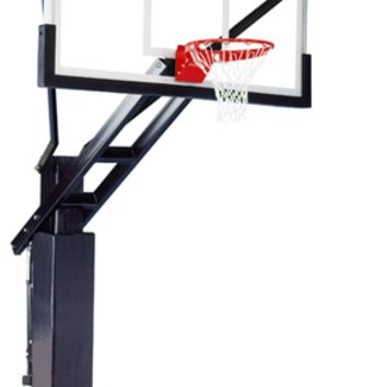 Ironclad Sports Full Court XXL Pro In Ground Outdoor Adjustable Basketball Hoop 72 inch Tempered Glass