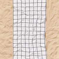 Printed Grid Perfect Beach Towel