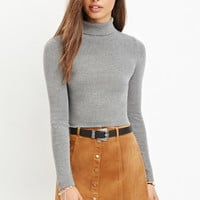 Button-Front Corduroy Skirt