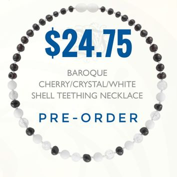 PRE-ORDER Cherry/Crystal/White Shell Baltic Amber