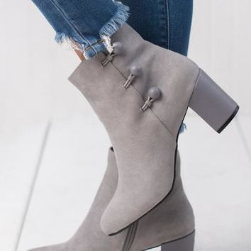 I Know I Can Bootie (Light Grey)