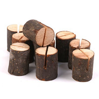 OULII Wedding Place Card Holders Table Number Holders Stands for Home Party Decorations, Wooden, Pack of 10
