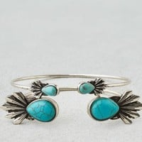 AEO Women's Turquoise Stone Cuff (Silver)