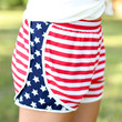 Run Free Flag Shorts - Navy and Red