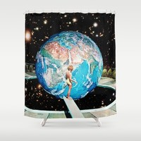 Emerging Planet Shower Curtain by Eugenia Loli