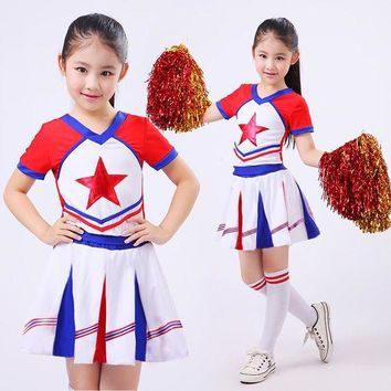 VONE05O New Kid Children Academic Dress Primary School Uniforms Set Kid Student Costumes Girl Boy Dr Suit Graduation Cheerleader Suits