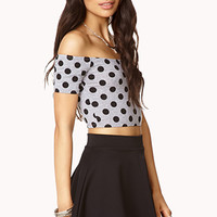 Sweet Polka Dot Crop Top