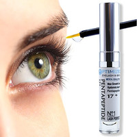 Best Eyelash Growth Serum with Pentapeptide 17 & Hyaluronic Acid. Proven Choice by Lash & Eyebrow Professionals to Regrow, Lengthen your Eyelashes & Thicken Brow in 1 Month 100% Money Back Guarantee!