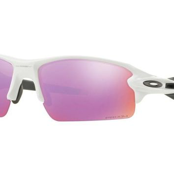 Oakley Flak 2.0 Prizm Golf Polished White Golfers Sports Eyewear Sunglasses