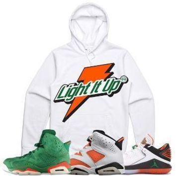 Jordan 6 Gatorade Sneaker Hoodie to Match - LIGHT IT UP