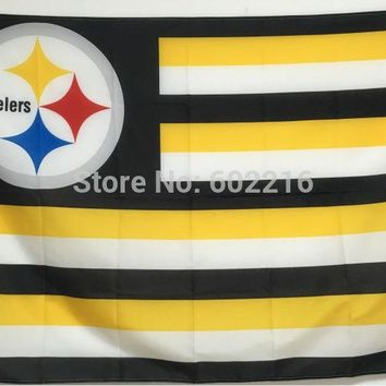 Pittsburgh Steelers Large Outdoor Team Flag 3ft x 5ft Football Hockey USA Flag