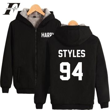 Popular Style bts harajuku hoodies One Direction Harry Styles Winter Zipper thick Men/Women Cap Hoodie Sweatshirt Hoodies