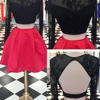 Two pieces Short homecoming dress I1071