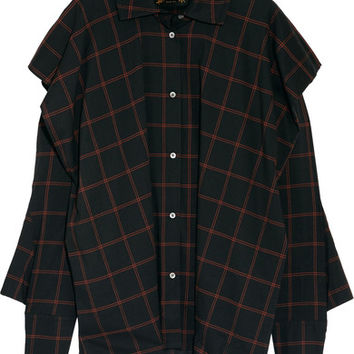Vivienne Westwood Anglomania - Fever oversized checked cotton-blend voile shirt