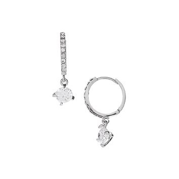Daisy Earring 18K Gold and  White Gold Plated