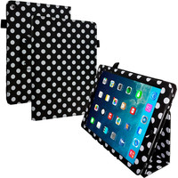 Polka Dot Folio Pouch Flip Case Cover Stand for Apple iPad Air