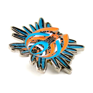 The Bassnectar Inspired 'Feather Drop' Pin