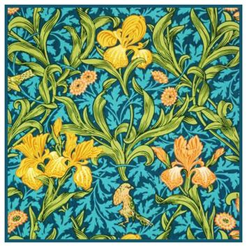 William Morris Bird Irises Flowers detail Design Counted Cross Stitch or Counted Needlepoint Pattern