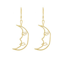 Cleopatra's Bling - Crescent Moon Earrings