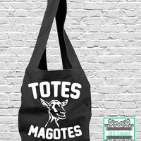 Totes Magotes - Sling Bag - Funny Tote Bag - Direct Dye Bag - Comfort Colors
