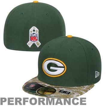 Green Bay Packers New Era Green/Digital Camo Salute to Service On-Field 59FIFTY Fitted Hat