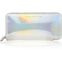 Marc by Marc Jacobs | Slim Zippy Techno holographic vinyl continental wallet | NET-A-PORTER.COM