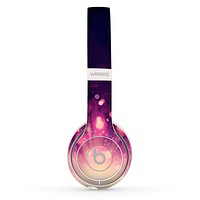 The Dark Purple with Desending Lightdrops Skin Set for the Beats by Dre Solo 2 Wireless Headphones