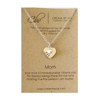 Silver Love Tag Necklace-Personalized Heart Tag Necklace Custom Gift Ideas For Wedding Mother's Day Meaningful Anniversary Love You Gifts
