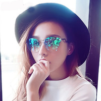 Crystal cat's eye sunglasses