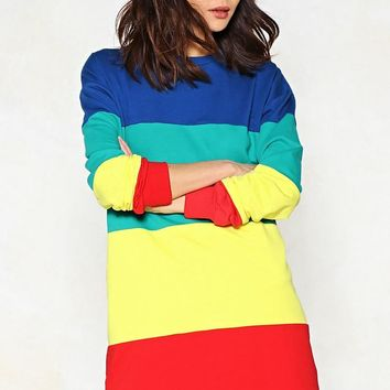 Look On the Bright Side Sweater Dress