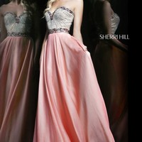 Embellished Sweetheart Gown by Sherri Hill