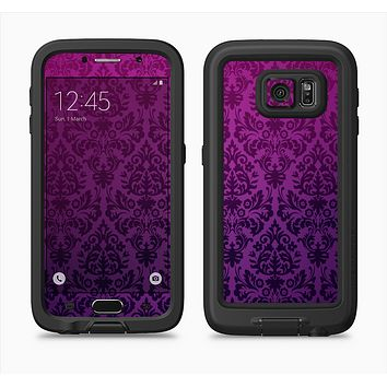 The Purple Delicate Foliage Pattern Full Body Samsung Galaxy S6 LifeProof Fre Case Skin Kit