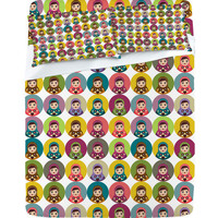 DENY Designs Home Accessories | Sharon Turner Matryoshka Candy Polka Sheet Set