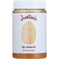 Justins Nut Butter Peanut Butter - Classic - Jar - 16 oz - Pack of 12