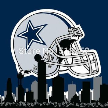 Dallas Cowboys with City Skyline Flag 3x5 FT 150X90CM Banner 100D Polyester flag Brass Gromments5075 , free shipping
