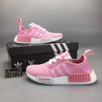 """Adidas NMD Runner Pk"" Women Sport Casual Breathable Sneakers Light Running Shoes"