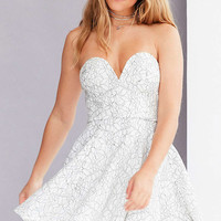 Rare London Sweet Strapless Lace Mini Dress - Urban Outfitters